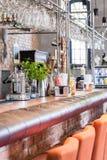 Μετρητής στο φανταχτερό εστιατόριο Στοκ Εικόνες