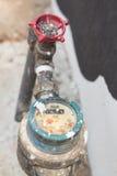 Μετρητής των σωλήνων νερού και μετάλλων, σχήμα Ταϊλάνδη Στοκ εικόνες με δικαίωμα ελεύθερης χρήσης