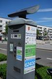 Μετρητής χώρων στάθμευσης στα calais στοκ εικόνες