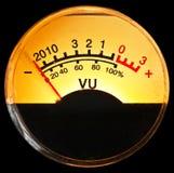 μετρητής VU στοκ εικόνες
