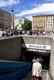 μετρό εισόδων marienplatz Στοκ εικόνα με δικαίωμα ελεύθερης χρήσης