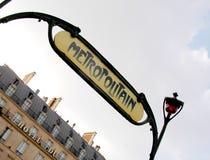 μετρό Παρίσι Στοκ εικόνες με δικαίωμα ελεύθερης χρήσης