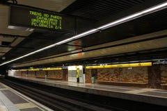 Μετρό της Βαρκελώνης μετά από την τρομοκρατική επίθεση Στοκ εικόνες με δικαίωμα ελεύθερης χρήσης