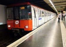 Μετρό της Βαρκελώνης Στοκ φωτογραφίες με δικαίωμα ελεύθερης χρήσης