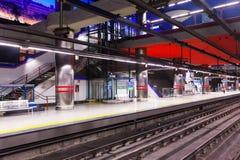 Μετρό της Μαδρίτης - σταθμός Aeropuerto Στοκ Φωτογραφία