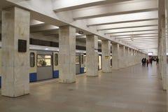 Μετρό της Μόσχας, povsednevnij υπόγειος τοπίων Στοκ εικόνες με δικαίωμα ελεύθερης χρήσης