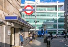 Μετρό του Λονδίνου στην οδό του Warren Στοκ φωτογραφία με δικαίωμα ελεύθερης χρήσης