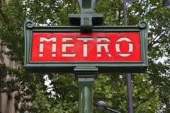 Μετρό του Παρισιού Στοκ φωτογραφία με δικαίωμα ελεύθερης χρήσης