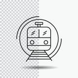 μετρό, τραίνο, έξυπνος, δημόσιος, εικονίδιο γραμμών μεταφορών στο διαφανές υπόβαθρο Μαύρη διανυσματική απεικόνιση εικονιδίων ελεύθερη απεικόνιση δικαιώματος