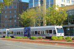 Μετρό VTA στο San Jose, Καλιφόρνια, ΗΠΑ Στοκ εικόνες με δικαίωμα ελεύθερης χρήσης
