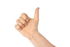 Μετρώντας αντίχειρας χεριών Στοκ εικόνες με δικαίωμα ελεύθερης χρήσης