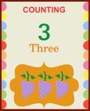 Μετρώντας αριθμοί 3 Στοκ φωτογραφία με δικαίωμα ελεύθερης χρήσης