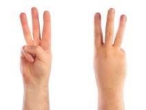 μετρώντας αρσενικό χεριών Στοκ Εικόνες