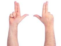 μετρώντας αρσενικό χεριών Στοκ εικόνα με δικαίωμα ελεύθερης χρήσης