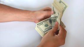 Μετρώντας βίντεο χρημάτων ατόμων απόθεμα βίντεο