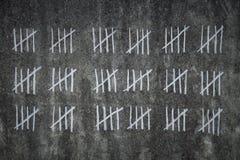 Μετρώντας ημέρες στη φυλακή στοκ φωτογραφίες