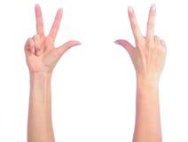 μετρώντας θηλυκά χέρια Στοκ φωτογραφία με δικαίωμα ελεύθερης χρήσης