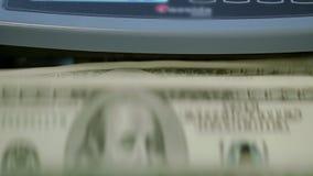 μετρώντας μηχανή νομίσματο&sig Έννοια τραπεζικής δραστηριότητας Υπολογισμός χρημάτων εγγράφου απόθεμα βίντεο