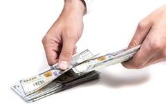 Μετρώντας δολάρια επιχειρηματιών Στοκ φωτογραφίες με δικαίωμα ελεύθερης χρήσης