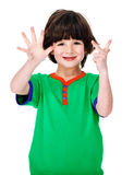 Μετρώντας παιδί Στοκ φωτογραφία με δικαίωμα ελεύθερης χρήσης