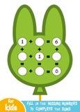 Μετρώντας παιχνίδι για τα παιδιά Εκπαιδευτικός ένα μαθηματικό παιχνίδι διανυσματική απεικόνιση