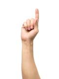 Μετρώντας σημάδι χεριών που απομονώνεται στο λευκό Στοκ Εικόνα