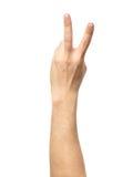 Μετρώντας σημάδι χεριών που απομονώνεται στο λευκό Στοκ εικόνες με δικαίωμα ελεύθερης χρήσης