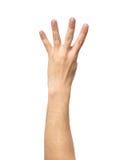 Μετρώντας σημάδι χεριών που απομονώνεται στο λευκό Στοκ εικόνα με δικαίωμα ελεύθερης χρήσης