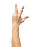 Μετρώντας σημάδι χεριών που απομονώνεται στο λευκό Στοκ Φωτογραφία