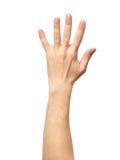 Μετρώντας σημάδι χεριών που απομονώνεται στο λευκό Στοκ Εικόνες