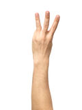 Μετρώντας σημάδι χεριών που απομονώνεται στο λευκό Στοκ φωτογραφία με δικαίωμα ελεύθερης χρήσης