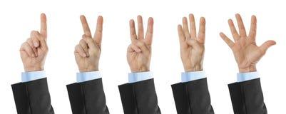 Μετρώντας χέρια 1 έως 5 Στοκ Εικόνες