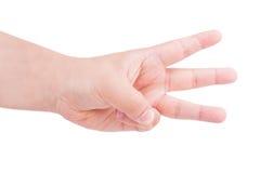 Μετρώντας χέρια ατόμων Στοκ Εικόνες
