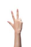 Μετρώντας χέρια γυναικών, αριθμός 3 Στοκ εικόνα με δικαίωμα ελεύθερης χρήσης