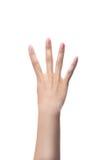 Μετρώντας χέρια γυναικών, αριθμός 4 Στοκ Φωτογραφία