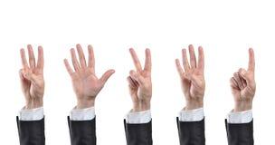 Μετρώντας χέρια Στοκ Εικόνα