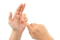 μετρώντας χέρια Στοκ εικόνα με δικαίωμα ελεύθερης χρήσης