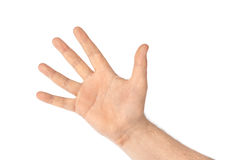 μετρώντας χέρι πέντε Στοκ Φωτογραφίες