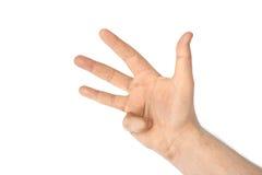 μετρώντας χέρι τέσσερα Στοκ φωτογραφία με δικαίωμα ελεύθερης χρήσης