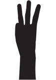 μετρώντας χέρι τρία Στοκ εικόνες με δικαίωμα ελεύθερης χρήσης