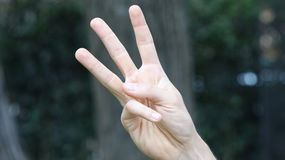 μετρώντας χέρι τρία Στοκ φωτογραφίες με δικαίωμα ελεύθερης χρήσης