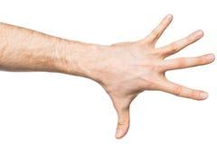 Μετρώντας χειρονομία χεριών Στοκ Φωτογραφίες