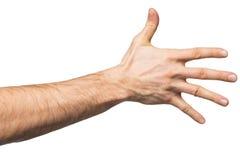 Μετρώντας χειρονομία χεριών Στοκ Εικόνες