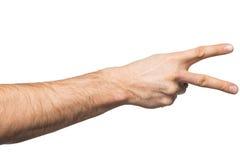 Μετρώντας χειρονομία χεριών Στοκ εικόνα με δικαίωμα ελεύθερης χρήσης