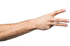 Μετρώντας χειρονομία χεριών Στοκ φωτογραφίες με δικαίωμα ελεύθερης χρήσης