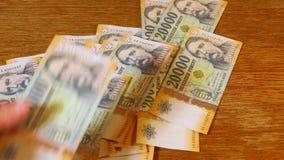 Μετρώντας χρήματα, ουγγρικά Forints απόθεμα βίντεο
