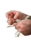 μετρώντας χρήματα Στοκ φωτογραφία με δικαίωμα ελεύθερης χρήσης