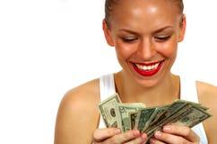 μετρώντας χρήματα Στοκ Φωτογραφίες