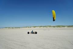 Με λάθη οδήγηση πανιών στην παραλία ST Peter-Ording Στοκ Φωτογραφία