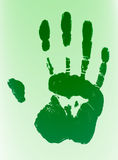 Μελάνι βιομετρικής προσδιορισμού Handprint Στοκ εικόνες με δικαίωμα ελεύθερης χρήσης